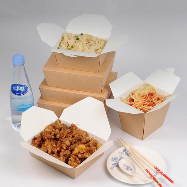 in hộp giấy đựng đồ ăn