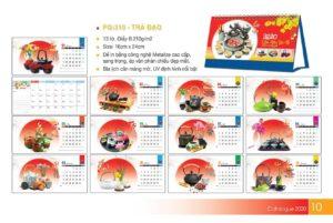 Mẫu thiết kế lịch để bàn cho nhà hàng