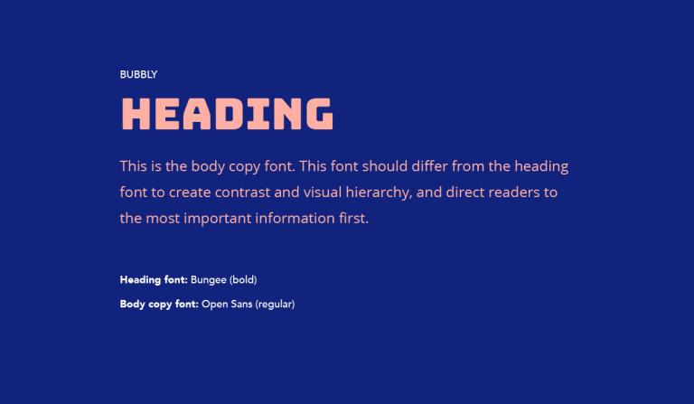 Font chữ Heading